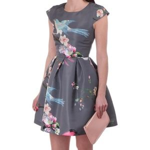 NWT TED BAKER FLIGHT OF THE ORIENT DRESS